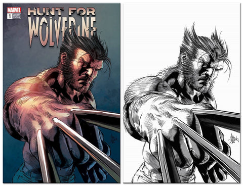 HUNT FOR WOLVERINE #1 MIKE DEODATO TRADE/VIRGIN VARIANT SET LIMITED TO 1000
