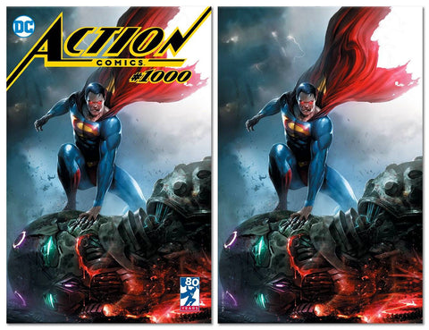 ACTION COMICS #1000 FRANCESCO MATTINA TRADE/VIRGIN VARIANT SET LIMITED TO 1000 SETS WORLDWIRDE