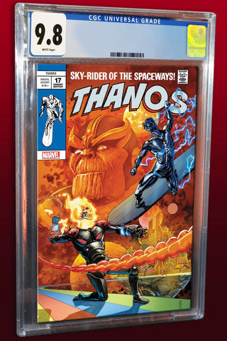 THANOS #17 J.G. JONES SILVER SURFER #4 HOMAGE TRADE DRESS LIMITED TO 3000 SOLD WORLDWIDE CGC 9.8 PREORDER