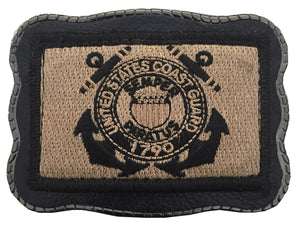 Coast Guard Patch on Leather