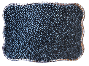 Genuine Stingray Skin Black