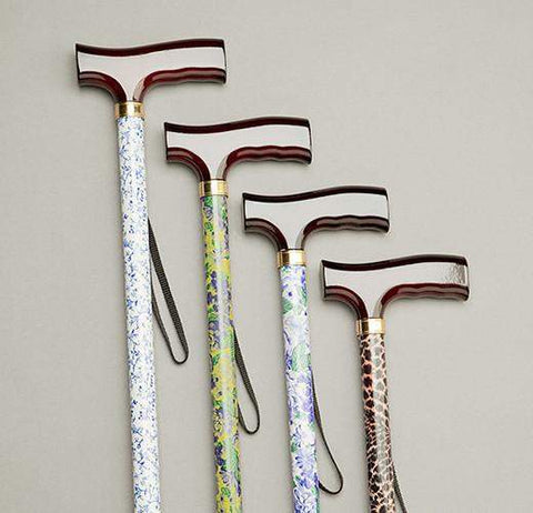 Care Quip - Walking Stick - Patterned Stem 580C, Breeze Mobility