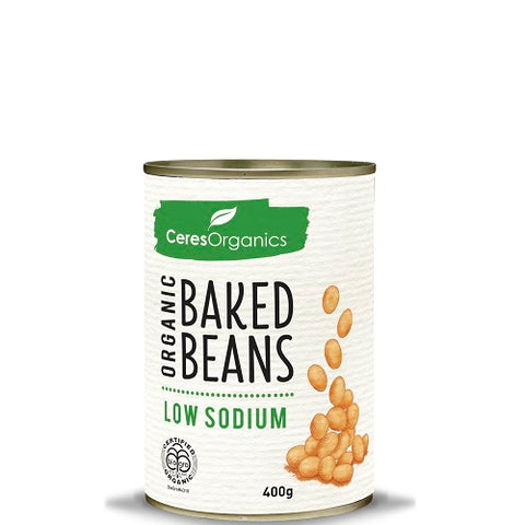Ceres Organics Baked Beans - Low Sodium - 400gms - Low Sodium Foods