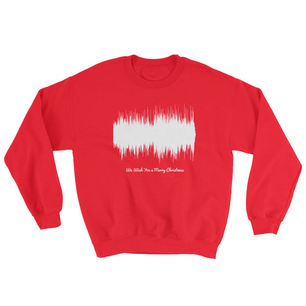 We Wish You a Merry Christmas Waveform (Red Christmas Sweater)