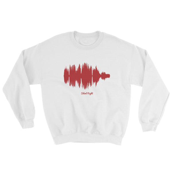 Silent Night Waveform (White Christmas Sweater)