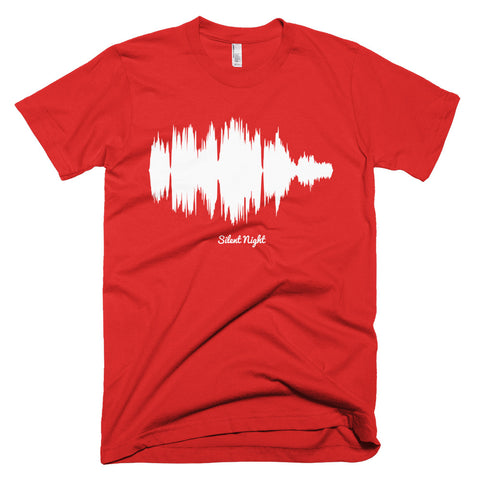Silent Night Waveform (Red Christmas T-Shirt)