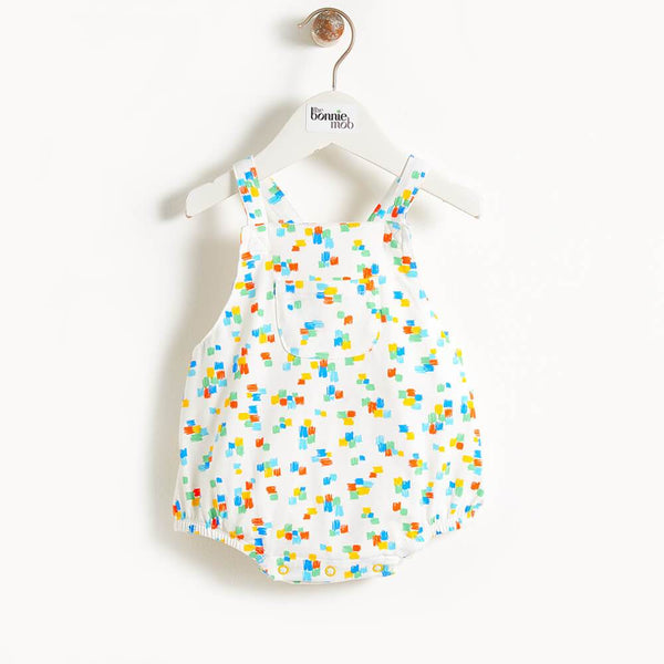 DALI - Printed Baby Bubble Romper - Multicolour