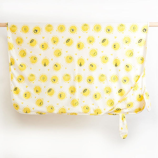 DAY - Printed Baby Blanket With Hood and Ears - Sunshine Print