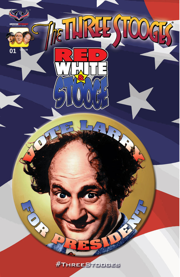 The Three Stooges Comic Book Series 3 / Cover 2: Red, White & Stooge - Larry - READY TO SHIP