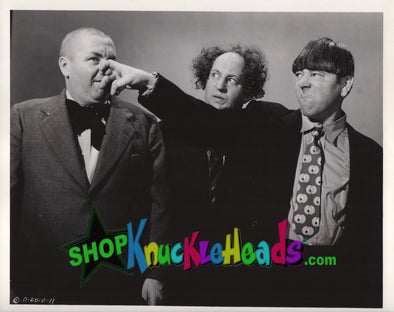 The Three Stooges MOE GRABBING NOSE 8x10: #14 - READY TO SHIP