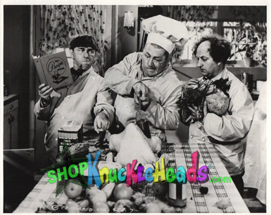 The Three Stooges STUFFING TURKEY 8x10: #16 - READY TO SHIP