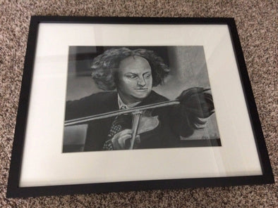 Three Stooges Original Hand Drawn Art: Larry Classic Violin: Only 1 By Artist