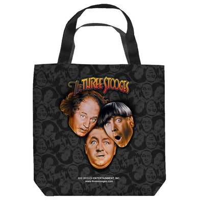 The Three Stooges Tote Bag: Stooges All Over - 16x16