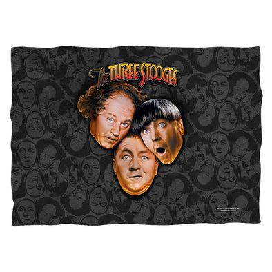 The Three Stooges Pillow Case: Stooges All Over Front/Back Print - 20x28 - One Size - Allow 7 business day processing time before available to ship
