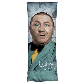 The Three Stooges Microfiber Body Pillow: Curly Heads  18x54 - Allow 7 business days for processing time before ready to ship