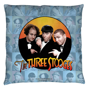 The Three Stooges Throw Pillow: Portraits - 16x16 - Allow 7 business days for processing time before ready to ship