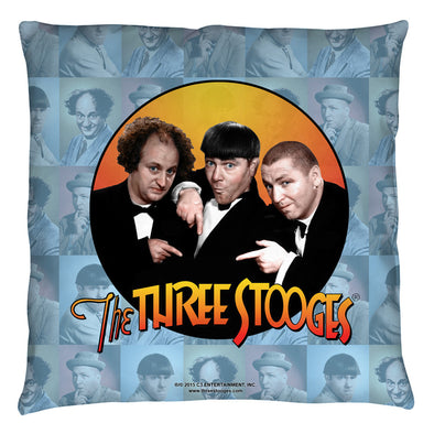 The Three Stooges Throw Pillow: Portraits - 26x26 - Allow 7 business days for processing time before ready to ship