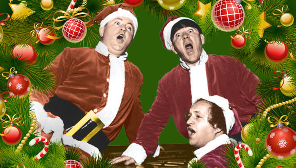 Three Stooges Christmas Cards - Bundle of 25 w/Envelope - FREE SHIPPING