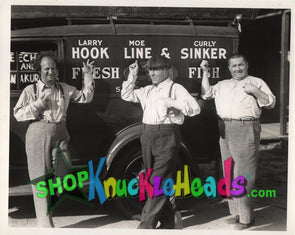 The Three Stooges HOOK, LINE, & SINKER 8x10: #2 - READY TO SHIP