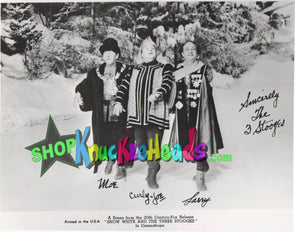 The Three Stooges MEET SNOW WHITE 8x10: #4 - READY TO SHIP