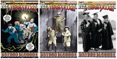 Three Stooges Comics Series 12 Limited Edition 3 Cover Bundle - Matinee Madness