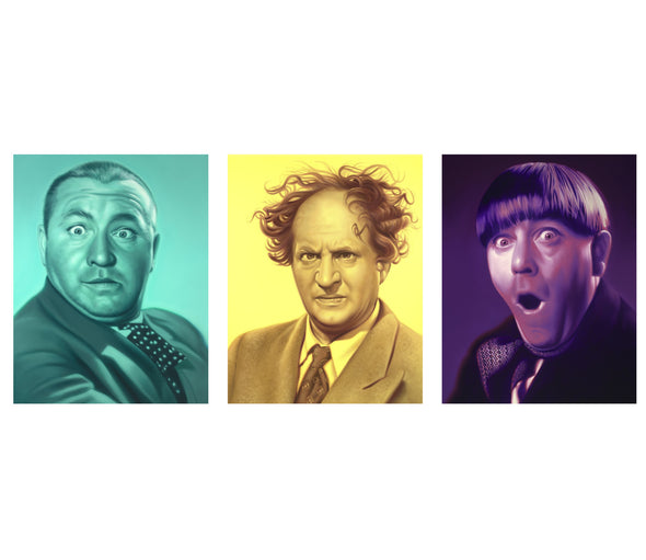 The Three Stooges Canvas Art (22in X 18in) - AVAILABLE TO SHIP AFTER 1 BUSINESS DAY PROCESSING TIME