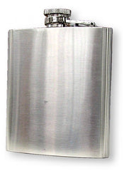 6 oz. Brushed Stainless Steel Hip Flask