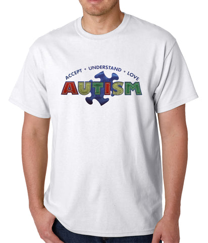 Autism Awareness - Accept, Understand, Love Mens T-shirt
