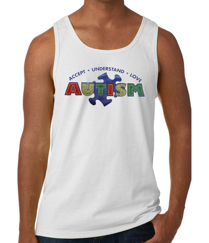 Autism Awareness - Accept, Understand, Love Tank Top