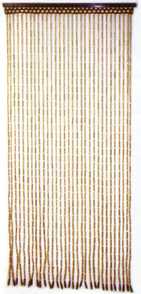 Beaded Curtains - Natural Finish Bamboo Doorway Curtain