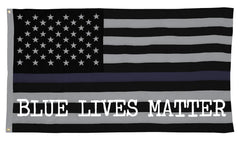 Bewild Brand - Blue Lives Matter American Flag Honoring the Fallen Officer who Made the Ultimate Sacrifice