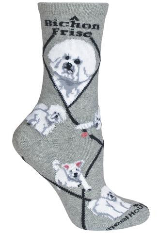 Bernese Mountain Dog Socks for Men and Women - Blue or Grey - Made in USA - Dog Socks