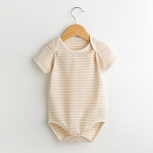 Cute and soft short sleeve cotton baby onesie.
