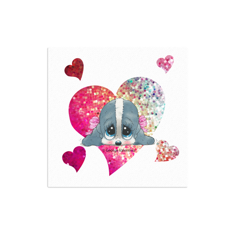Honey® Head Heart Canvas 12x12