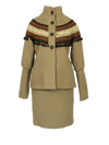 WOMENS RETRO FANTACY WOOL JACKET/SKIRT SET