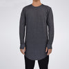 Mens High Quality Knitswear Long line Long Sleeve T-Shirt