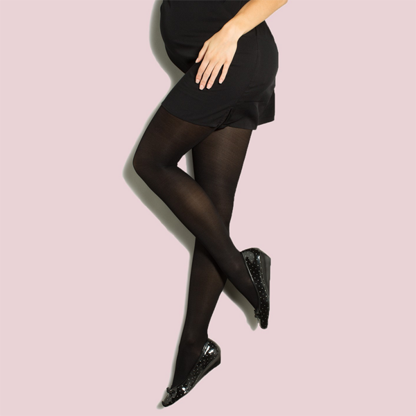Preggers by Therafirm Maternity Tights - 20-30 mmHg - Black