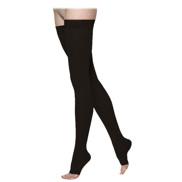 Sigvaris 973 Access Open Toe Thigh Highs w/ Grip Top - 30-40 mmHg