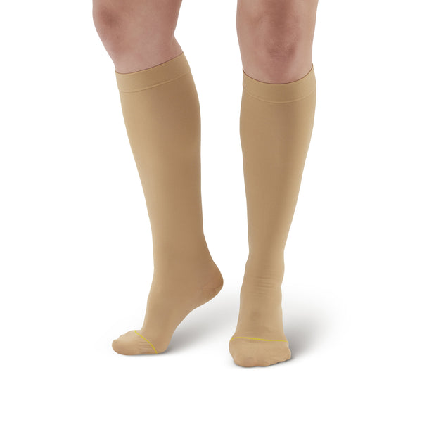 AW Style 222 Anti-Embolism Closed Toe Knee High Stockings - 18 mmHg