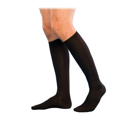 Sigvaris Compression Sock 186 Men's Casual Cotton Knee High Socks - 15-20 mmHg