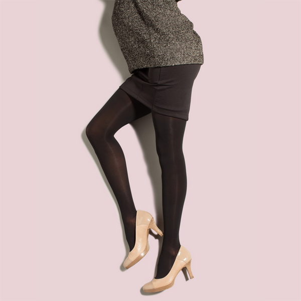 Preggers by Therafirm Opaque Maternity Pantyhose - 30-40 mmHg - Black