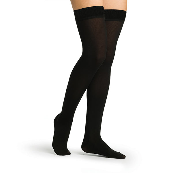 Sigvaris Secure 554 Women's Closed Toe Thigh Highs w/Silicone Band - 40-50 mmHg
