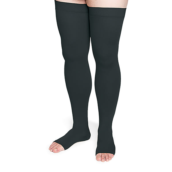 Sigvaris Secure 554 Unisex Open Toe Thigh Highs w/Silicone Band - 40-50 mmHg
