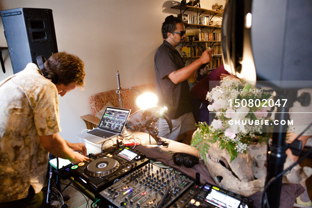 150802047 | Gleitz at the decks for summer DJ mix sessions at historic LES house. —Team Fun BBQ hosted by Sub... | Team Chuubie