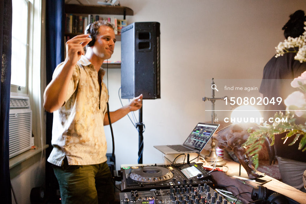 150802049 | Gleitz at the decks for summer DJ mix sessions at historic LES house. —Team Fun BBQ hosted by Sub... | Team Chuubie