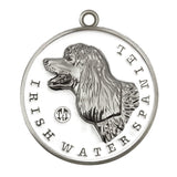 Irish Water Spaniel Dog Id Tag Silver Finish - Tags4Tails