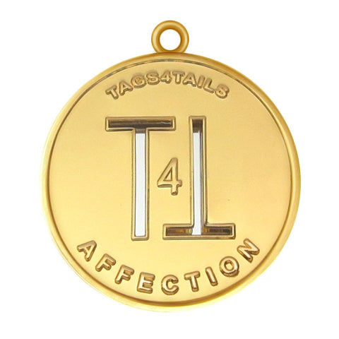 T4T Affection Dog Id Tag Gold Finish - Tags4Tails