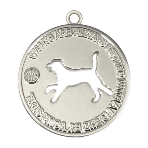 Walk with a Friend Dog Id Tag Silver Finish - Tags4Tails