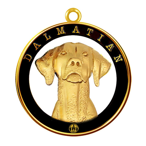 Dalmatian Dog Id Tag Gold Finish - Tags4Tails