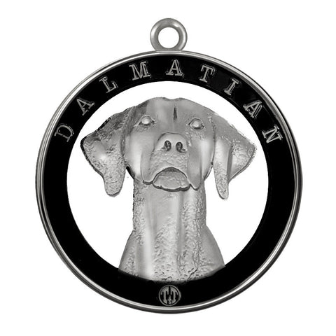 Dalmatian Dog Id Tag Silver Finish - Tags4Tails